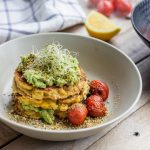 Corn Fritters with Avocado Mash – FOODIESTORY